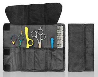 Leather Velcro Closure 4 Shear Case