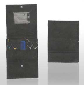 Leather 6 Shear Case