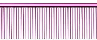 U&U 9 Quarter Comb Pink Wide